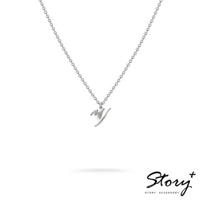 STORY ACCESSORY-字母系列-字母V 純銀項鍊