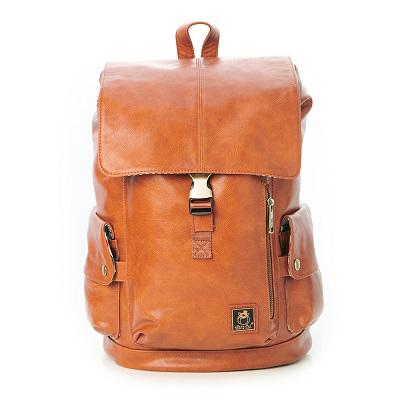 SharPei沙皮狗-城市漫遊x時尚叉釦大容量後背包-拿鐵棕