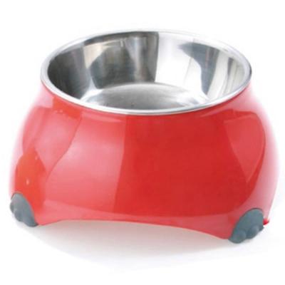 日本TK不低頭防滑靜音山型碗 犬貓用《紅色-小》