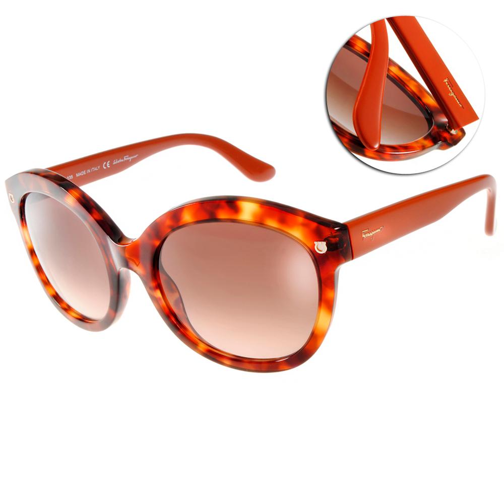Salvatore Ferragamo太陽眼鏡 LOGO款/琥珀#SF677S 215 @ Y!購物