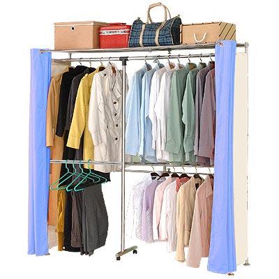 巴塞隆納-上下伸縮式強化結構伸縮防塵衣櫥