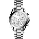 Michael Kors 羅馬假期三眼計時腕錶-銀/35mm