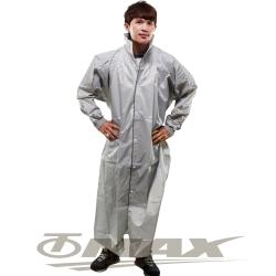 JUMP新二代前開素色雨衣-銀色-超大5XL+通用鞋套