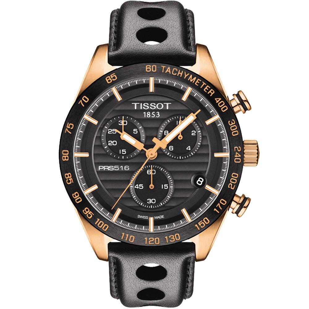 TISSOT PRS516三眼計時石英腕錶T1004173605100-黑42mm