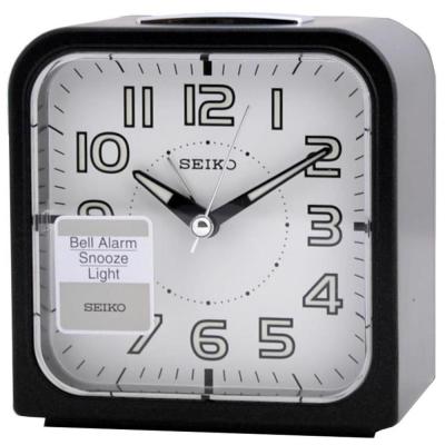 SEIKO 精工色彩美學時尚鬧鐘(QHK025J)-白面x黑框