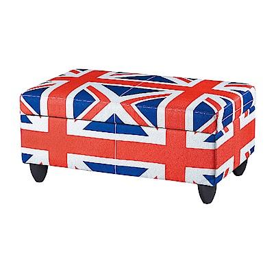 Boden-英倫國旗收納椅凳/長凳/沙發椅-76x44x36cm