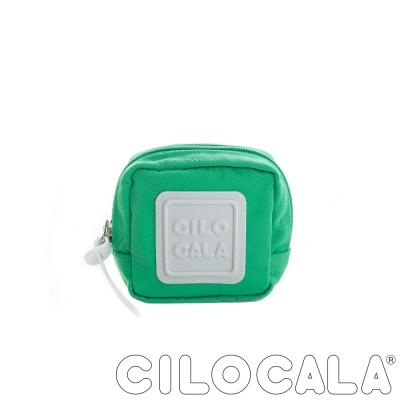 CILOCALA 亮彩尼龍防潑水可扣式零錢包 綠色