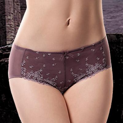【La Felino】魅麗紫紗平口褲 (魅力紫)