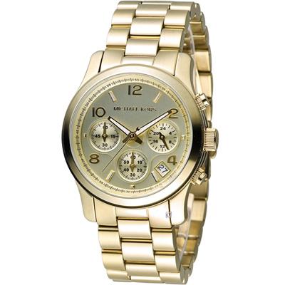 Michael Kors 自我風格計時腕錶-金色/38mm