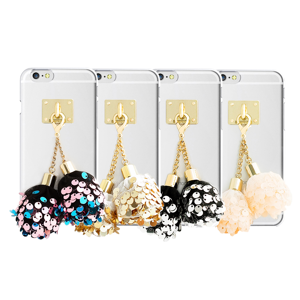 DDPOP iPhone 6 6S Plus韓流明星手機殼派對彩球吊飾款