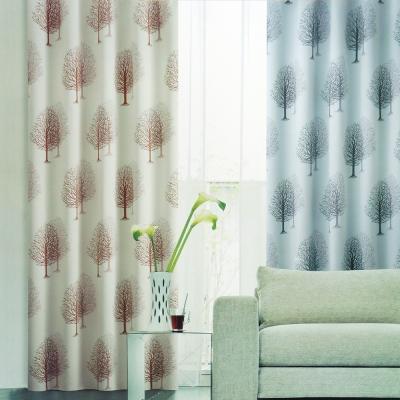 布安於室-雙影樹遮光單層穿管式窗簾-半腰窗(寬240*高180cm)