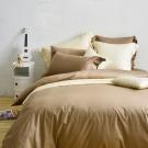 Cozy inn 簡單純色-咖啡 雙人四件組 200織精梳棉薄被套床包組