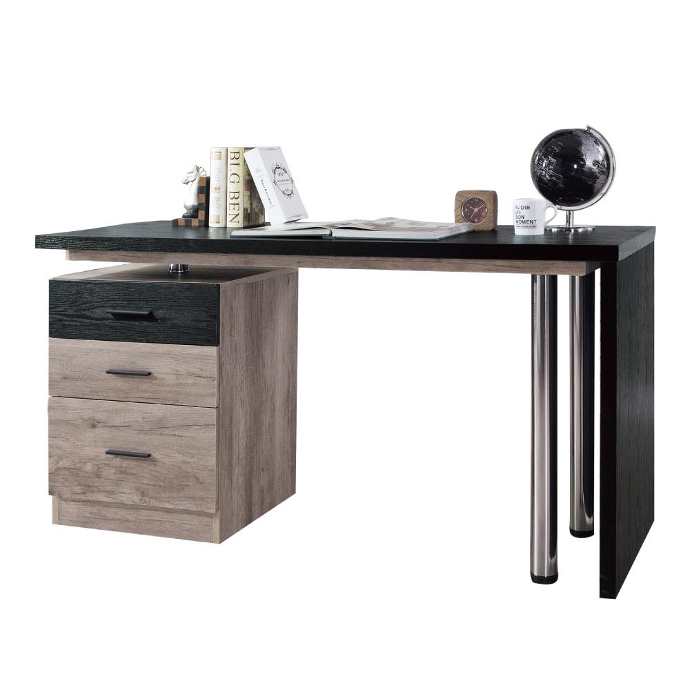 品家居 布蓮娜4.9尺木紋多功能電腦桌/書桌-145.5x60x78cm免組