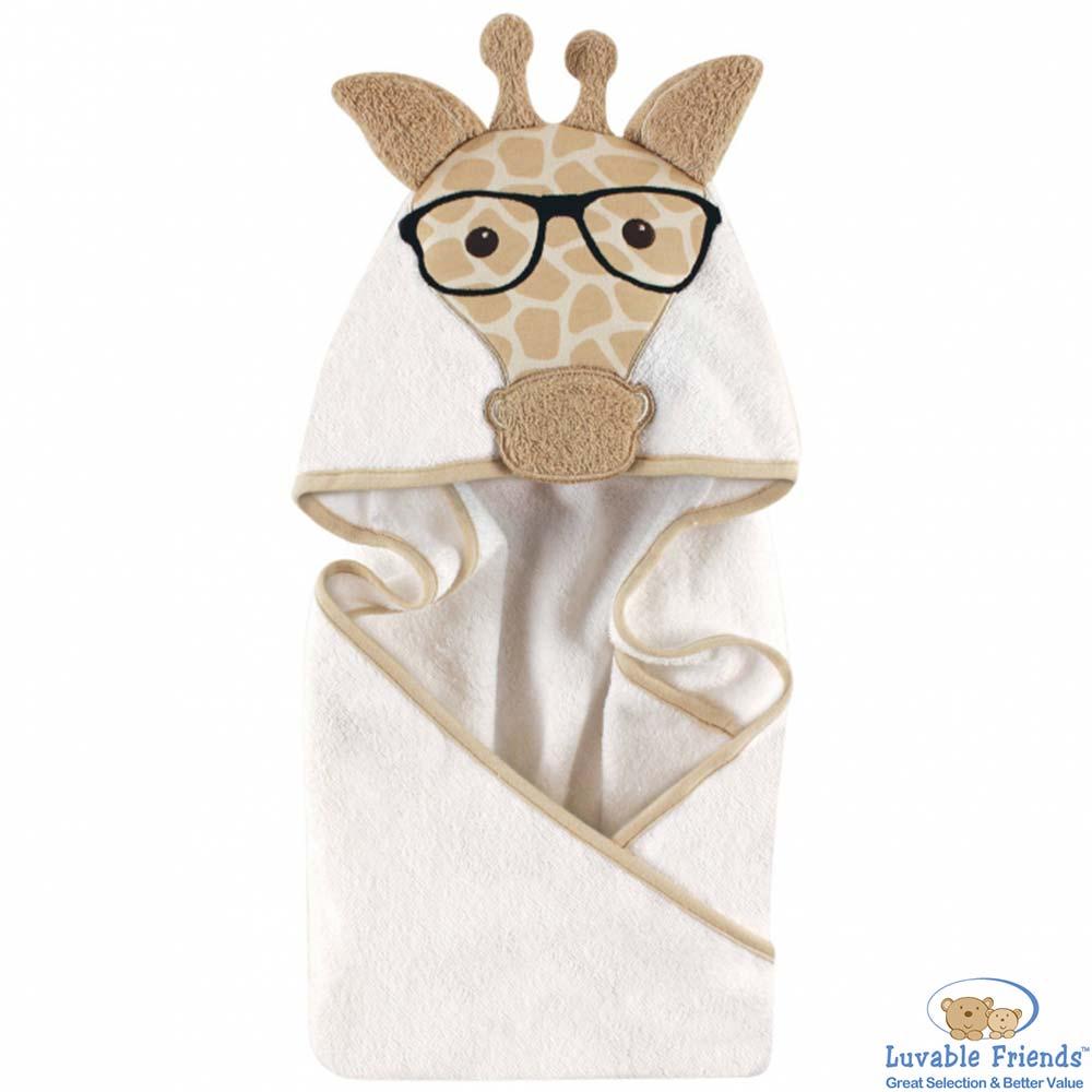 Luvable Friends 長頸鹿先生動物造型連帽浴巾
