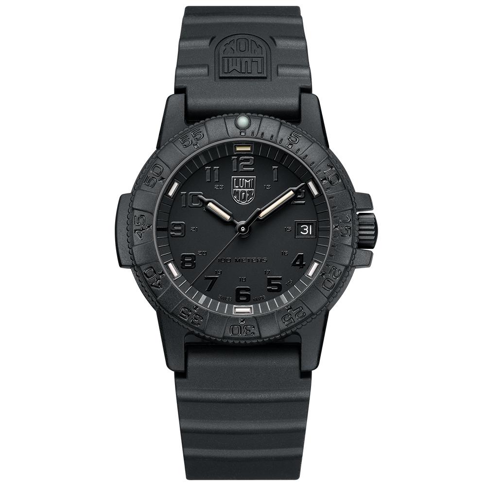 LUMINOX 雷明時SEA TURTLE 0300海龜系列腕錶-黑x黑時標/39mm