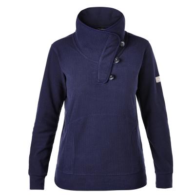 【Berghaus貝豪斯】女款刷毛保暖立領上衣H51FC3-藍