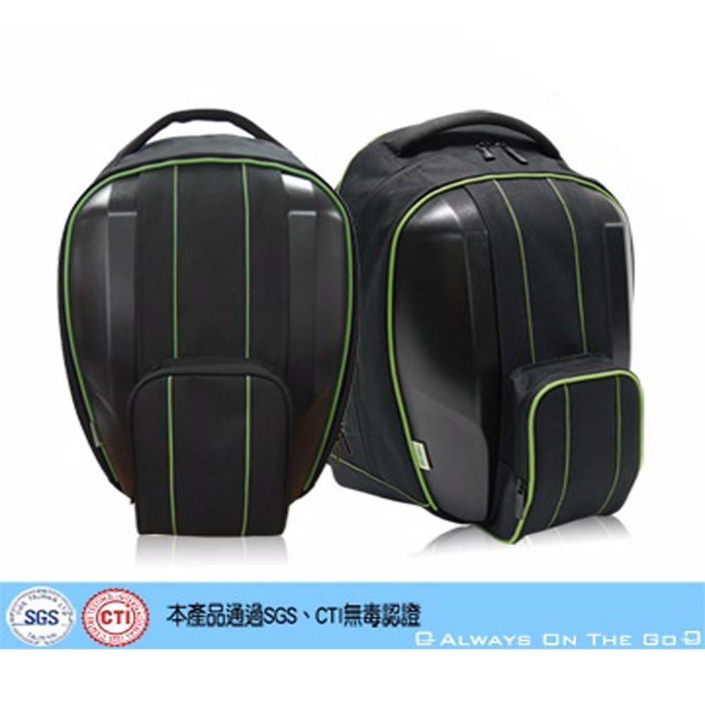 【DATASHELL】愛地球系列環保15.6吋後背包(消光黑)