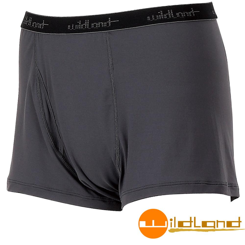 Wildland 荒野 透氣快乾排汗開洞四角褲/內褲 男W1680-93深灰