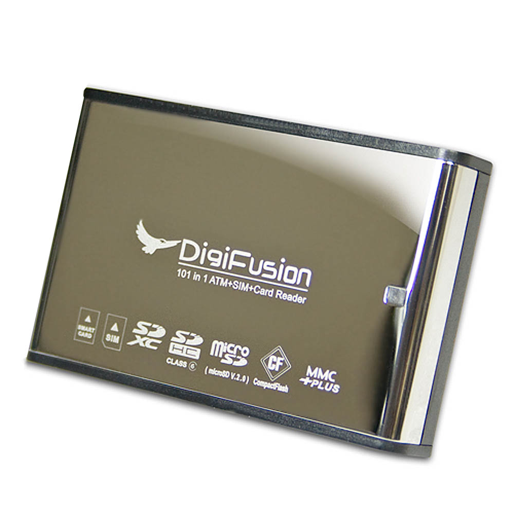 Digifusion ATM 極速 101 in 1 極速-多插槽晶片讀卡機(鋼面)