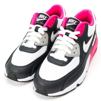 NIKE-MAX 90 MESH女慢跑鞋-白黑