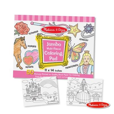 美國瑪莉莎 Melissa & Doug-大型兒童繪圖本 - 粉紅女生主題