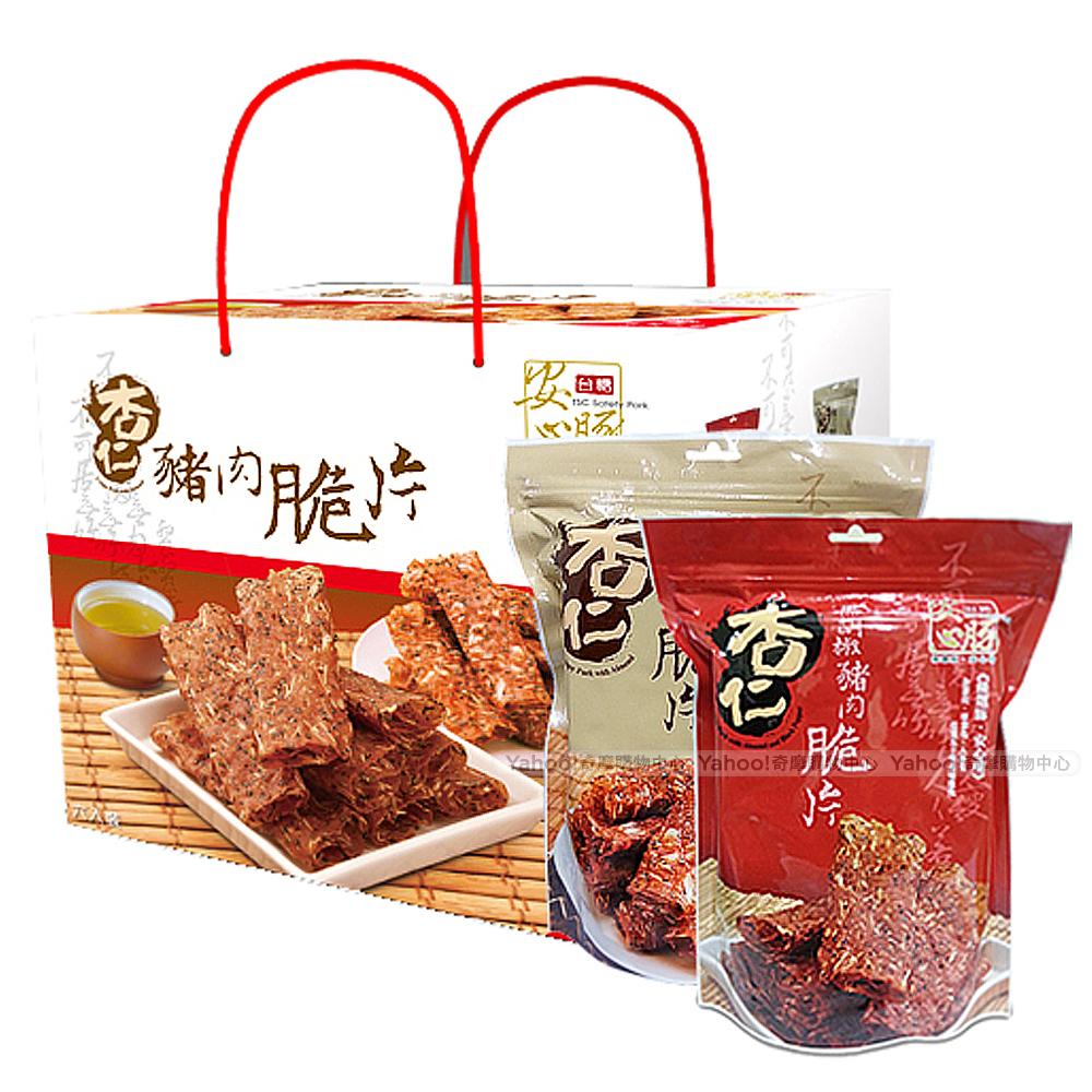 台糖安心豚 杏仁豬肉脆片禮盒(6包/盒)