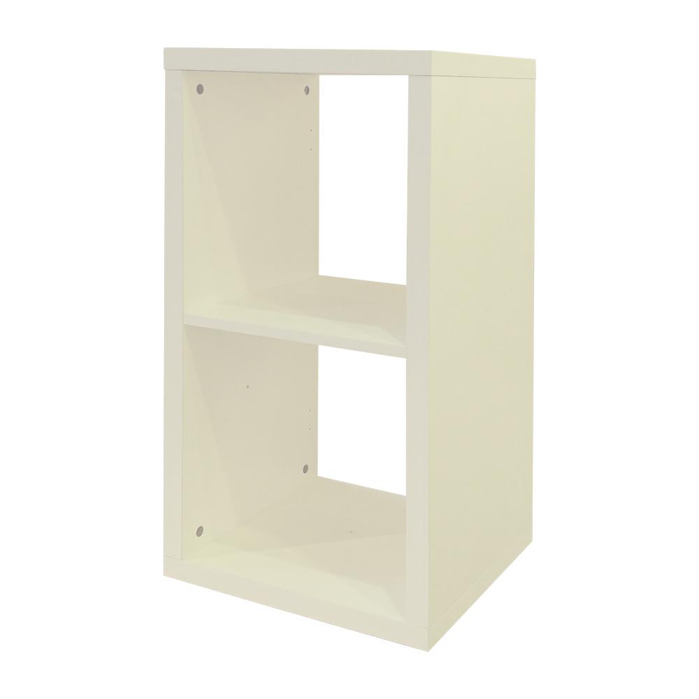 悅家居 空間大師二格櫃-古董白-40x33x75.5cm