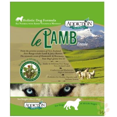 紐西蘭Addiction自然癮食 無穀野牧羊肉寵食犬糧9kg
