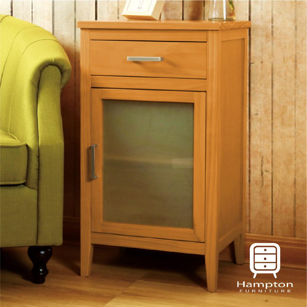 漢妮Hampton凱恩松木一門一抽櫃-原木色45 x35 x78.5 cm