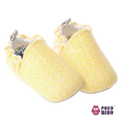 英國POCONIDO 手工嬰兒鞋_幾何檸檬