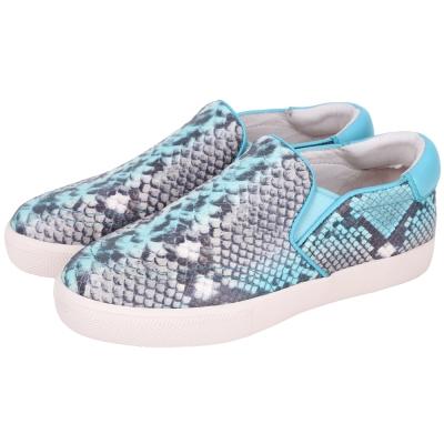ASH IMPULS 渲染蛇紋休閒便鞋(藍色)