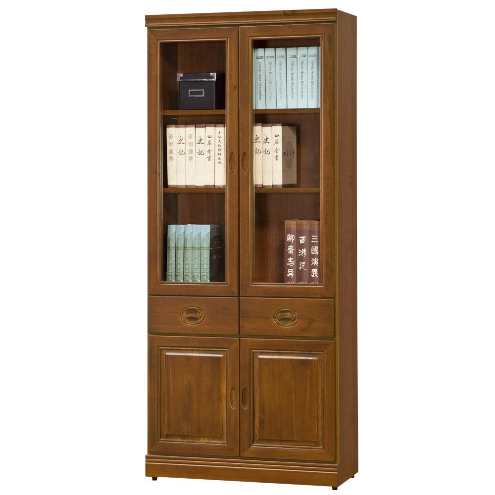 時尚屋 皇家正樟木3x6尺中抽書櫃 寬80.3cm