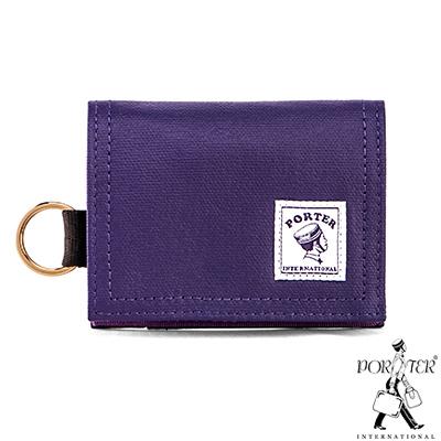 PORTER-輕巧實用CATCH經典零錢包-煙燻紫