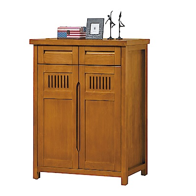 品家居 普莉瑪3.2尺實木二門二抽鞋櫃-95x40.1x112.6cm免組