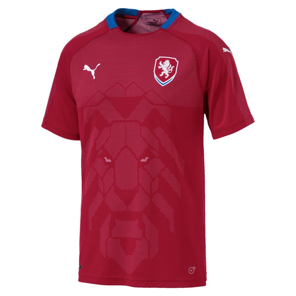 PUMA-足球系列國家概念短袖球衣-捷克(M)