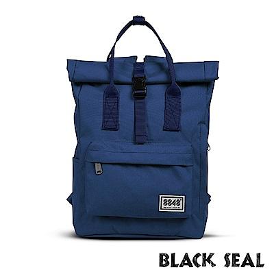 BLACK SEAL 聯名8848系列-捲蓋式多隔層休閒後背包- 深藍BS83041