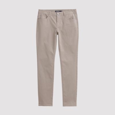 Hang Ten - 女裝 - 彈性修身美型直筒褲 - 卡其