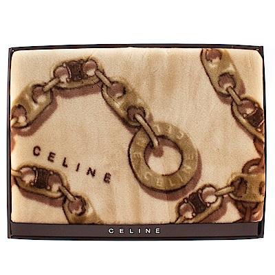 【CELINE】鎖鏈圖樣毛毯禮盒(駝色)
