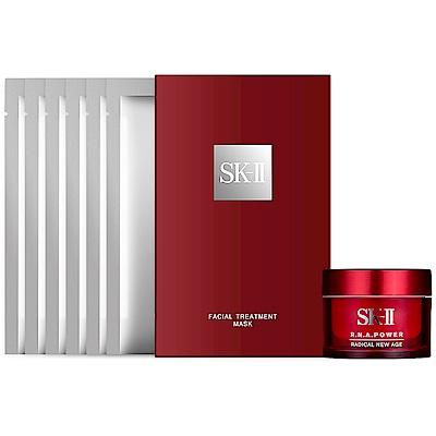 SK-II 青春敷面膜(6片/盒裝) 贈R.N.A.超肌能緊緻活膚霜(15g)