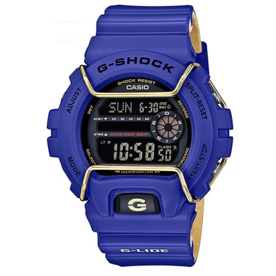 G-SHOCK城市街頭塗鴉帥氣風格運動概念錶(GLS-6900-2)藍/50mm
