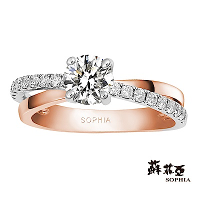 蘇菲亞SOPHIA - 帕希絲 0.50克拉EVS2 3EX鑽石戒指