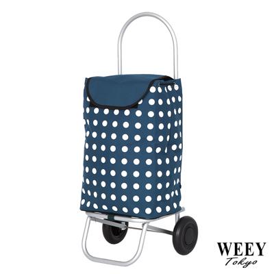WEEY 加大靜音輪可拆輪設計購物車 菜籃車 載運車(淺藍點)29-023D22