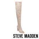 STEVE MADDEN-EMOTIONS-TAUPE 過膝長筒粗高跟套靴-米色