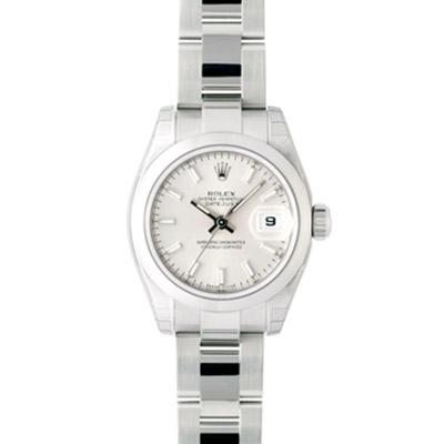 ROLEX 勞力士 Datejust 179160 蠔式恆動日誌型女錶-銀/26mm