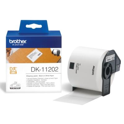 Brother DK-11202 定型標籤帶( 62x100mm 白底黑字 )耐久型紙質