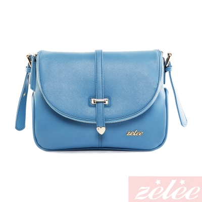 ZELEE - 甜荳系列 斜背包-優雅藍