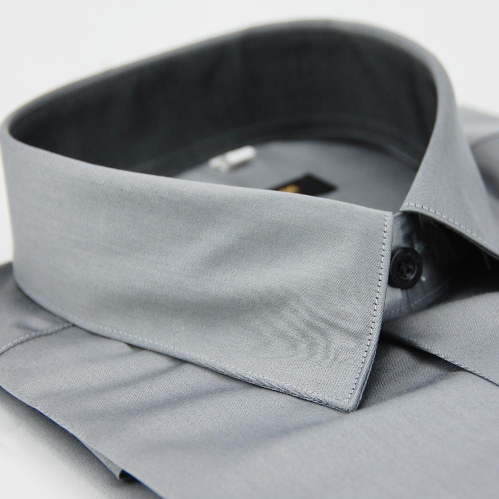 【金安德森】灰色窄版長袖襯衫