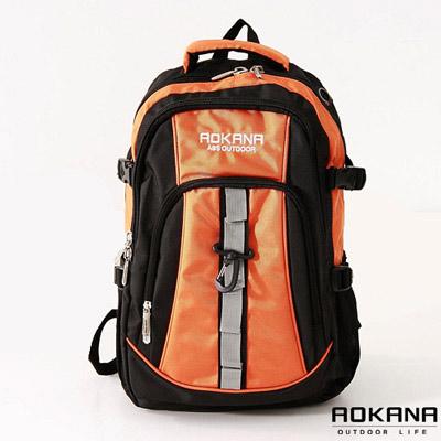 AOKANA奧卡納 - 多功能輕量防水護脊登山後背包68-017 - 橘