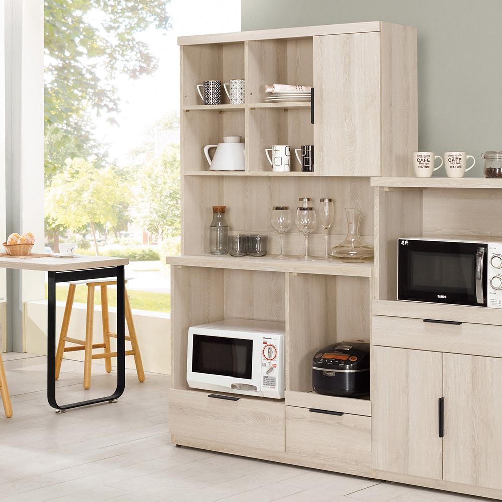 Boden-諾文3.3尺餐櫃/電器收納櫃(上座+下座)(三色可選)-100x40x183cm