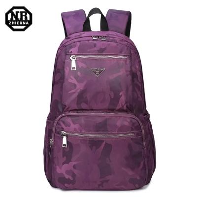 BAC01 GS紫色 NR14吋韓版經典迷彩休閒電腦後背包
